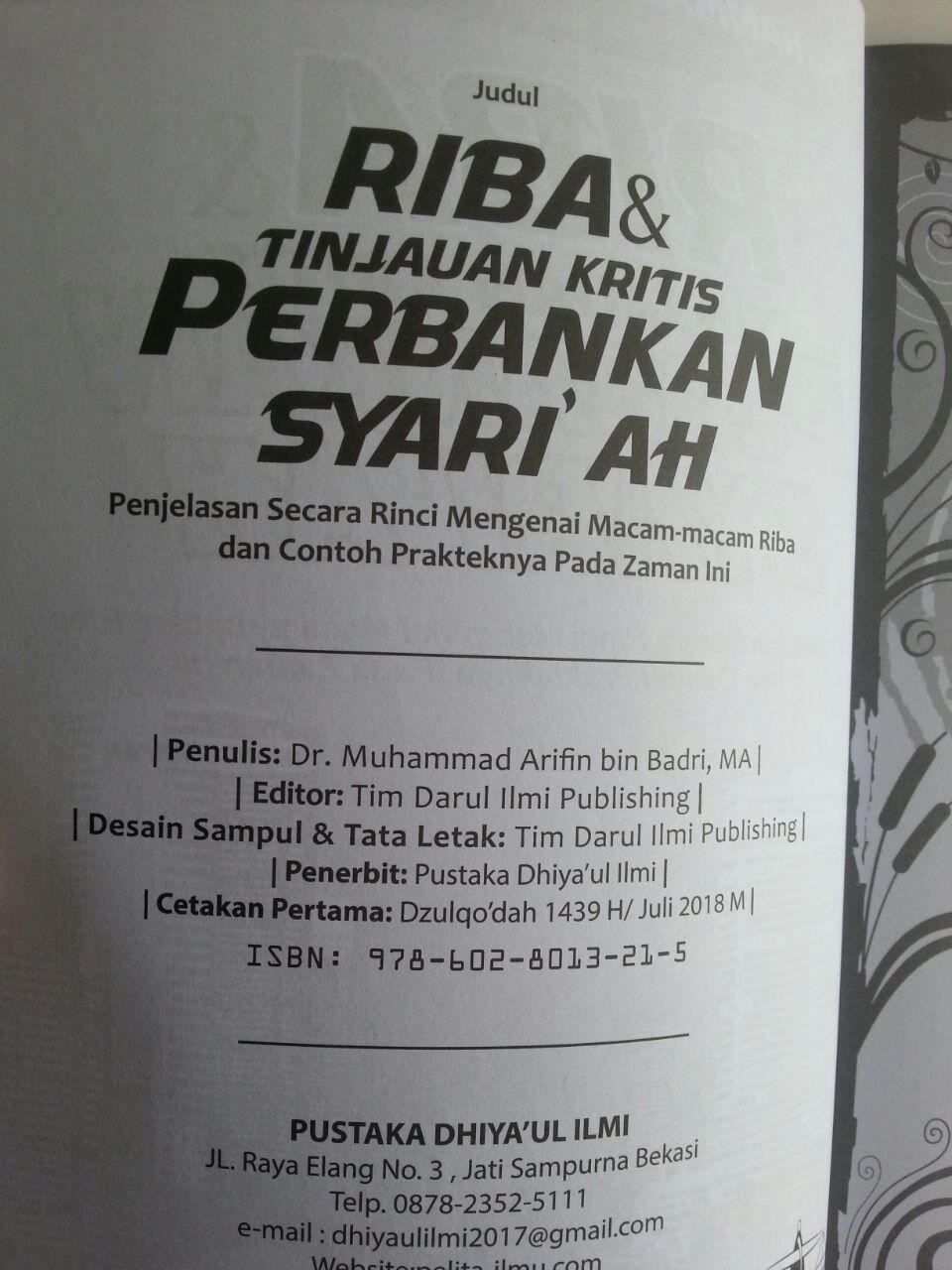 Buku Riba Dan Tinjauan Kritis Perbankan Syariah Penjelasan Riba isi 2