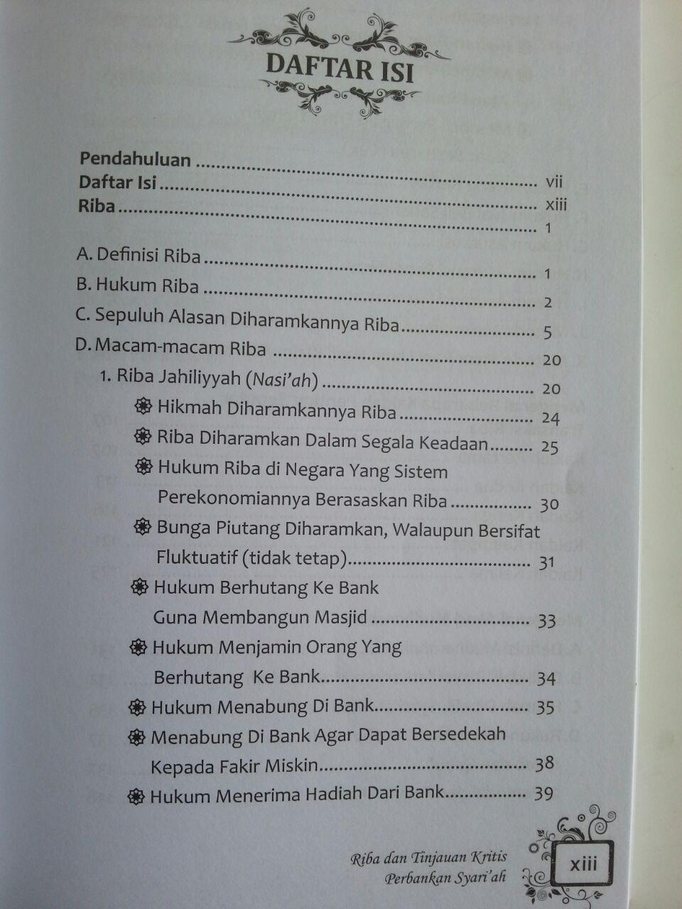 Buku Riba Dan Tinjauan Kritis Perbankan Syariah Penjelasan Riba isi
