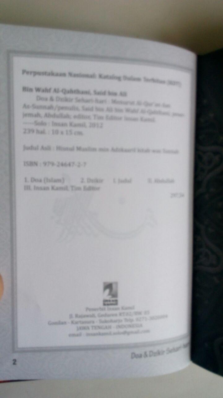 Buku Saku Doa Dzikir dan Wirid Sehari-Hari Hard Cover isi 3