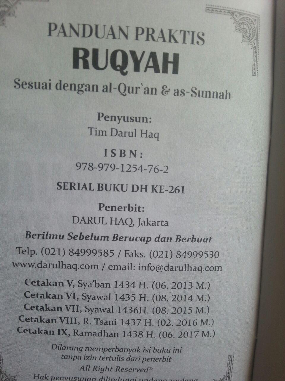 Buku Saku Panduan Praktis Ruqyah Sesuai Al-Quran As-Sunnah isi 2