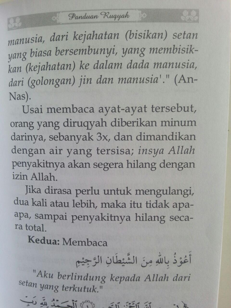 Buku Saku Panduan Praktis Ruqyah Sesuai Al-Quran As-Sunnah isi