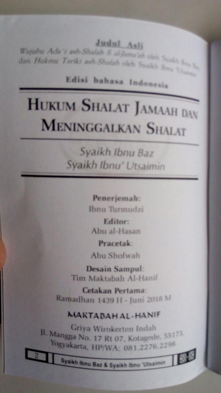Buku Saku Shalat Jamaah Dan Meninggalkan Shalat isi 3