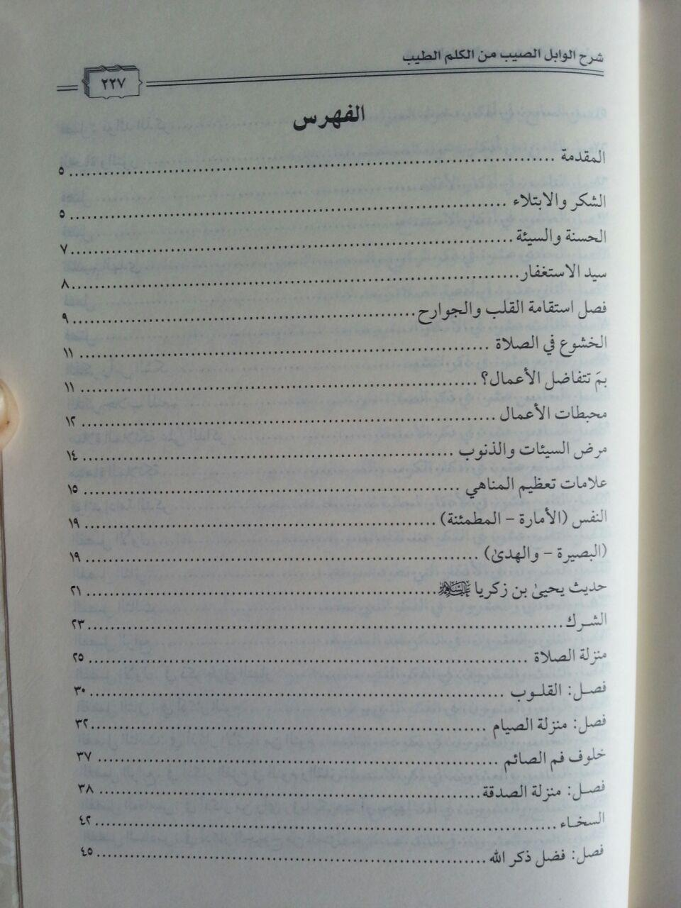 Kitab Syarh Al-Wabil Ash-Shayyib Min Kalam Ath-Thayyib isi 3