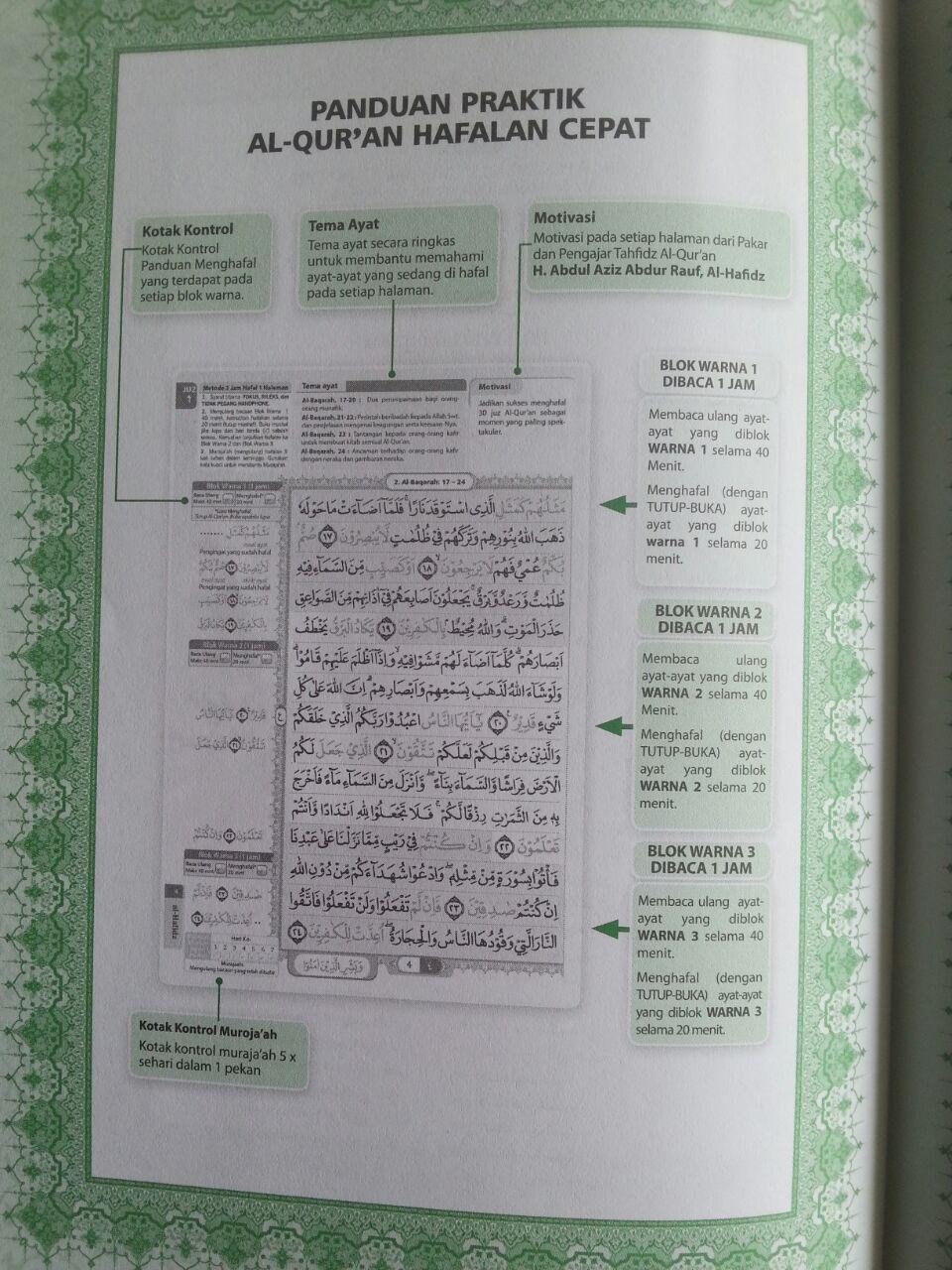 Al-Qur'an Hafalan Al-Hafidz Metode 3 jam Hafal 1 Halaman Per Juz isi