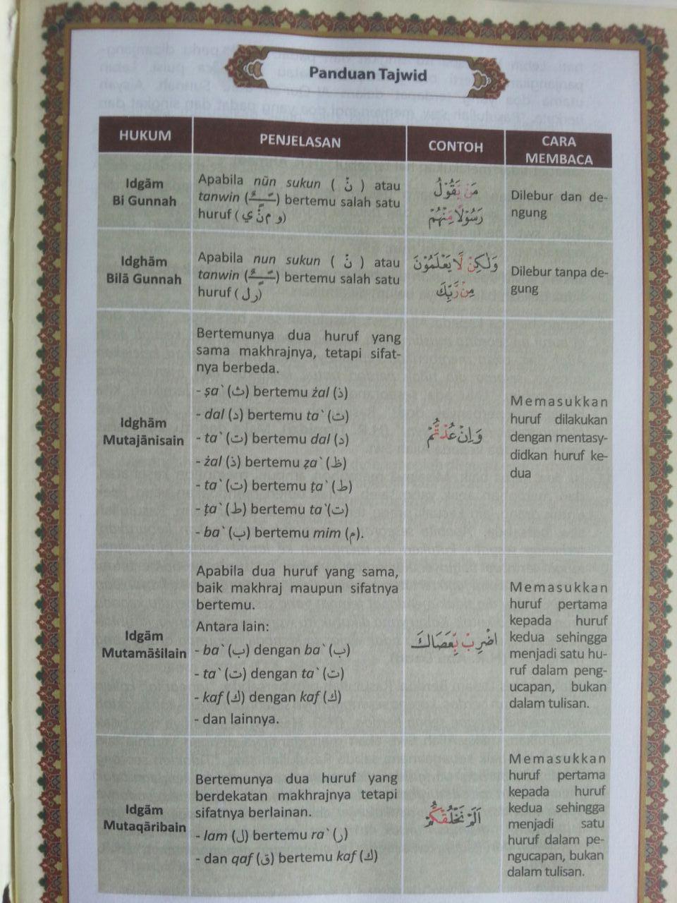 Al-Qur'an Tajwid Warna Transliterasi Terjemah Perkata Al-Mutakabbir A5 isi 2