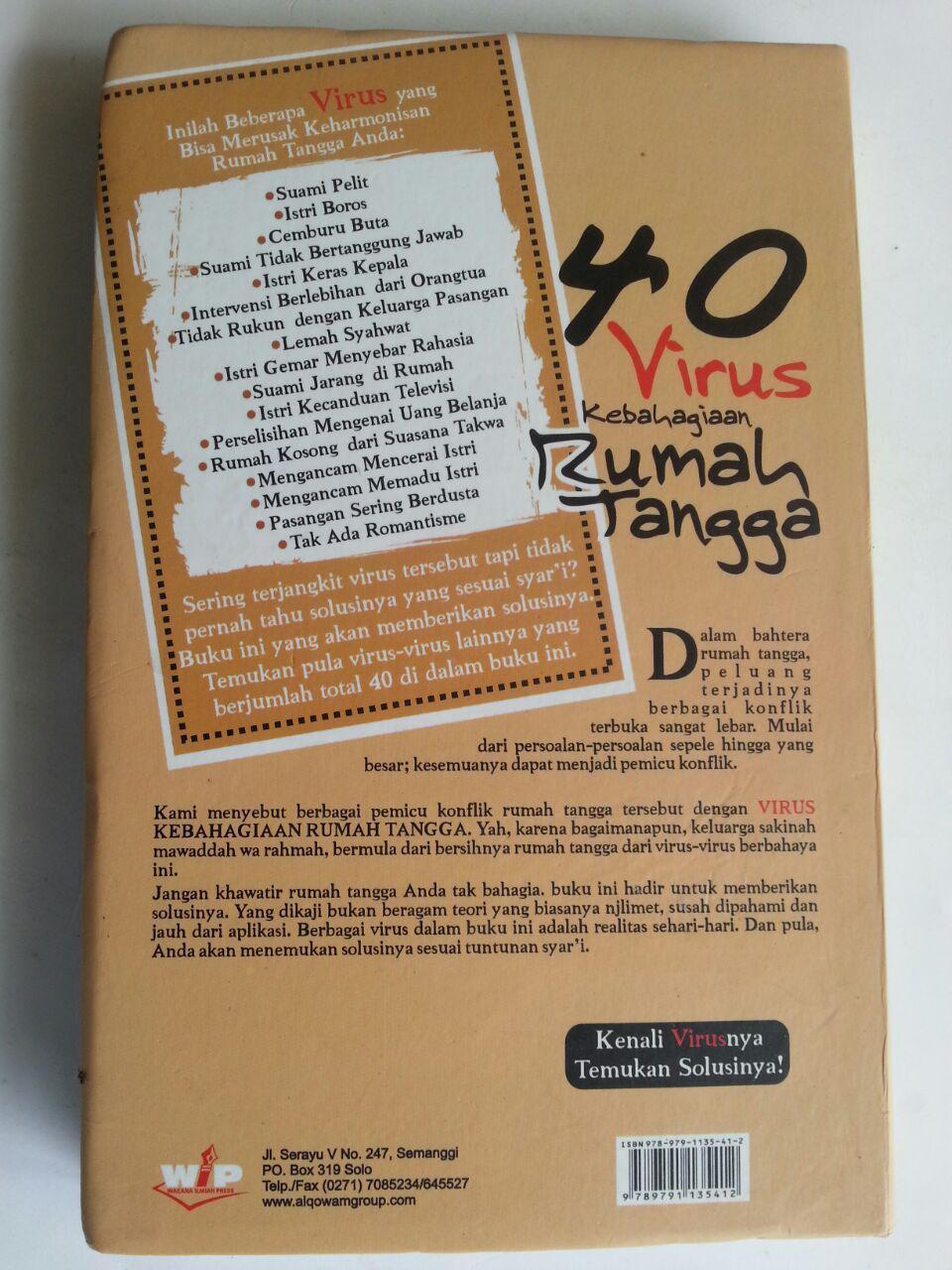 Buku 40 Virus Kebahagiaan Rumah Tangga Solusi Mengatasi Penoda cover