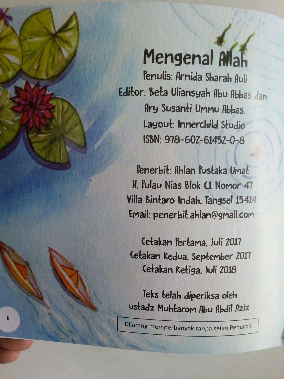Buku Anak Seri Ushul Tsalatsah For Kids Mengenal Allah isi
