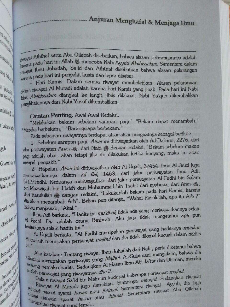 Buku Anjuran Menghafal Dan Menjaga Ilmu isi 3