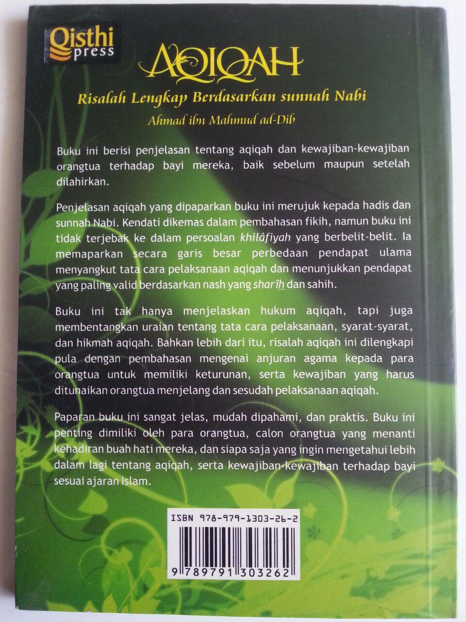 Buku Aqiqah Risalah Lengkap Berdasarkan Sunnah Nabi cover