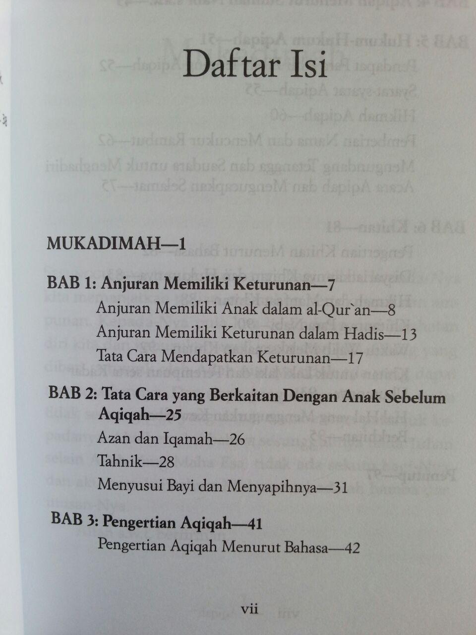 Buku Aqiqah Risalah Lengkap Berdasarkan Sunnah Nabi isi 2
