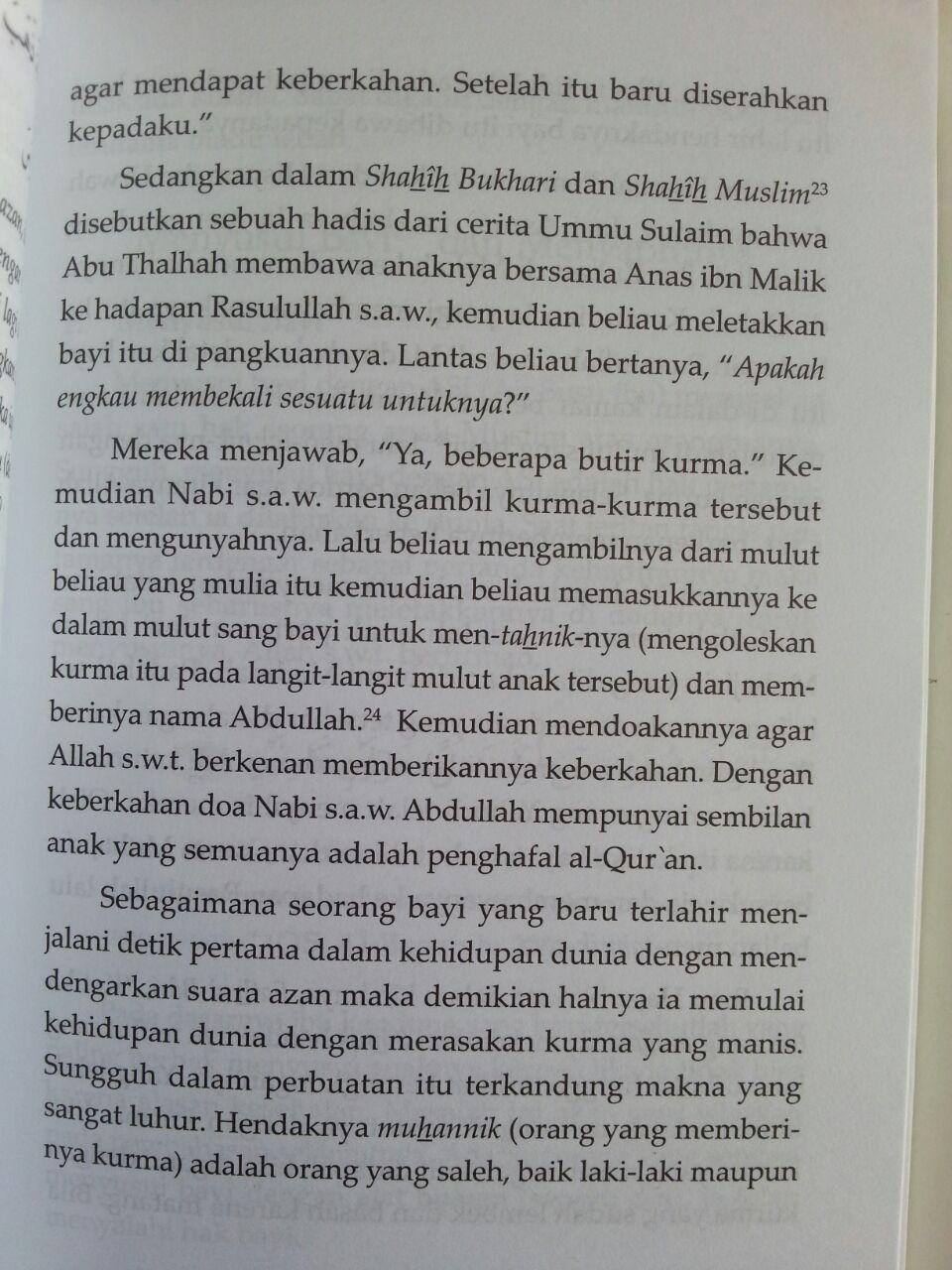 Buku Aqiqah Risalah Lengkap Berdasarkan Sunnah Nabi isi 3