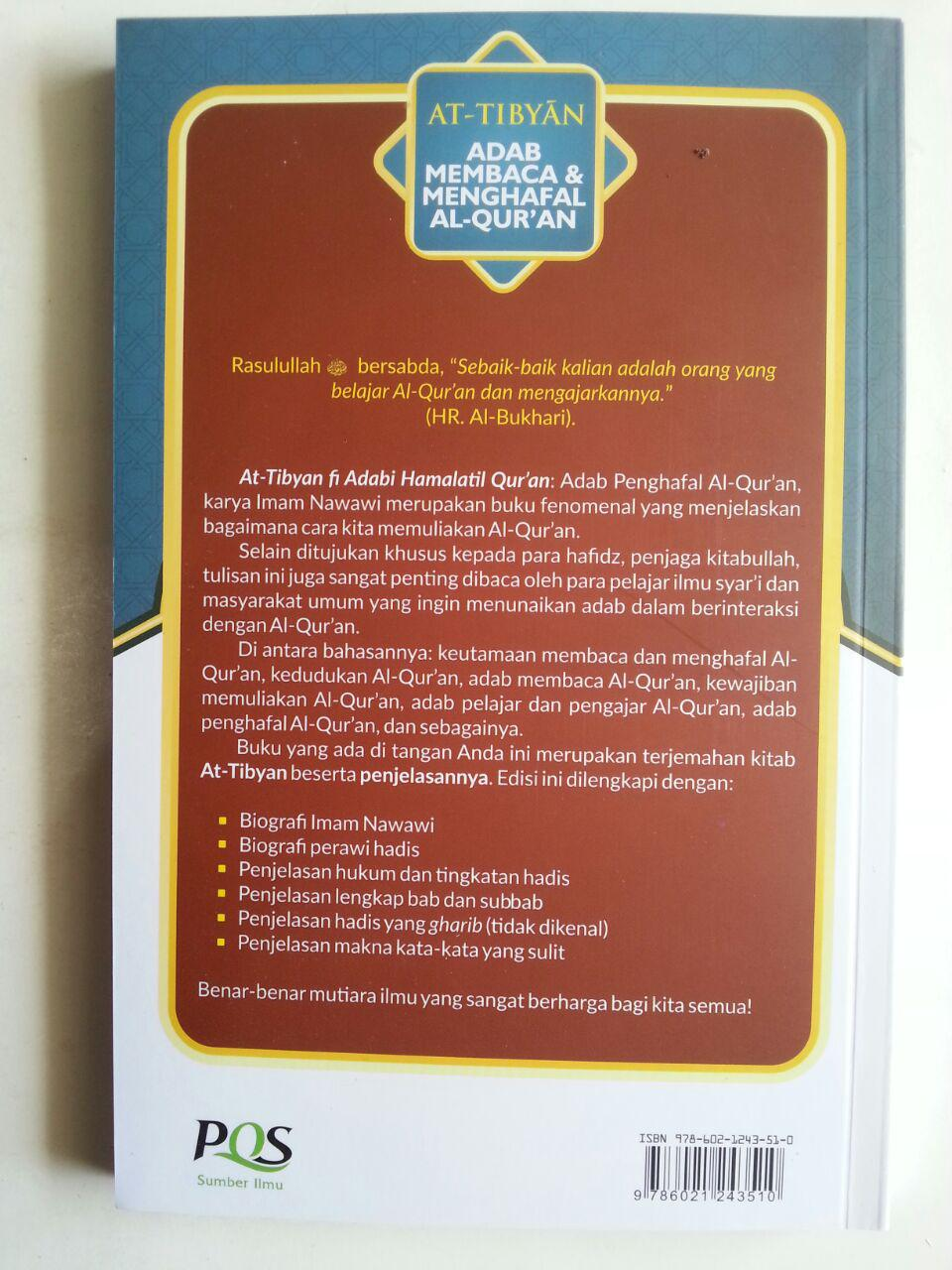 Buku At-Tibyan Adab Membaca Dan Menghafal Al-Qur'an cover