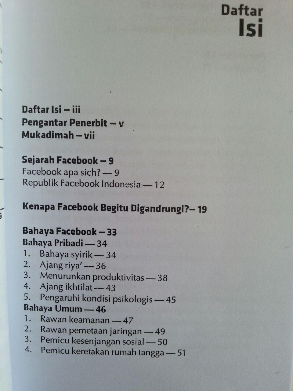 Buku Bahaya Facebook Bagaimana Berfacebook Dengan Aman Sehat Islami isi 2