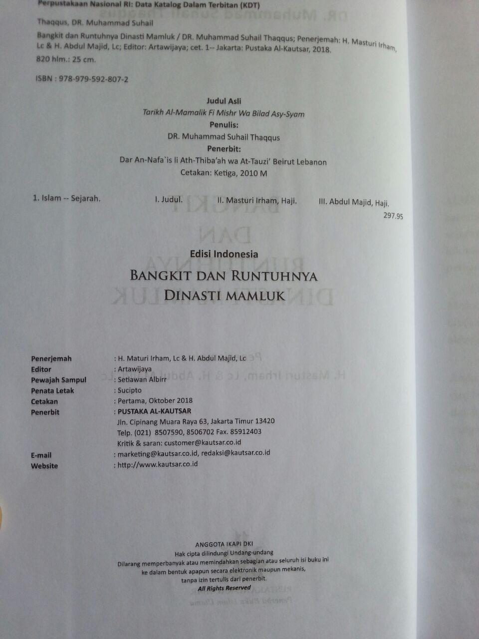 Buku Bangkit Dan Runtuhnya Dinasti Mamluk Di Mesir Dan Syam isi 2