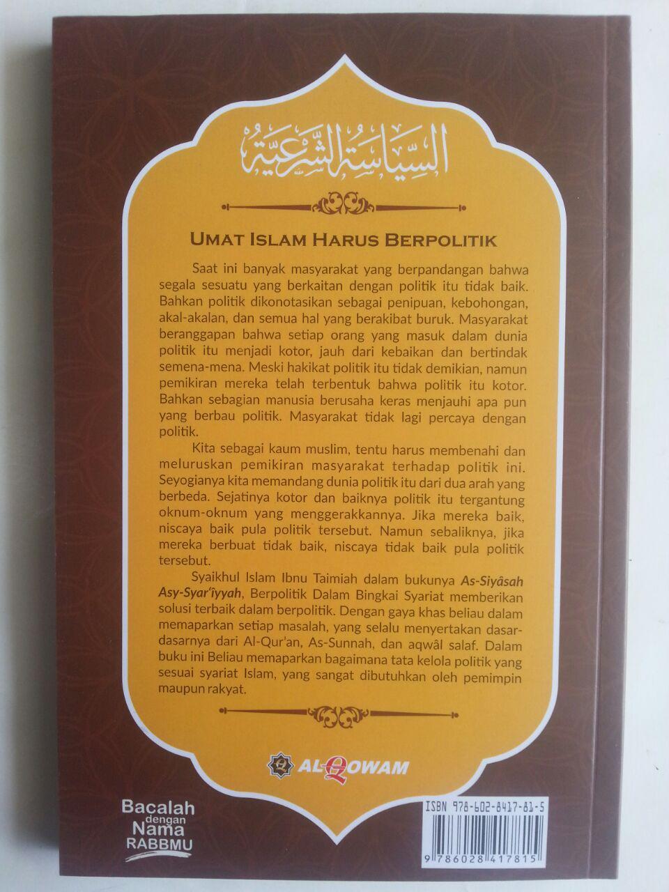Buku Berpolitik Dalam Bingkai Syariat cover