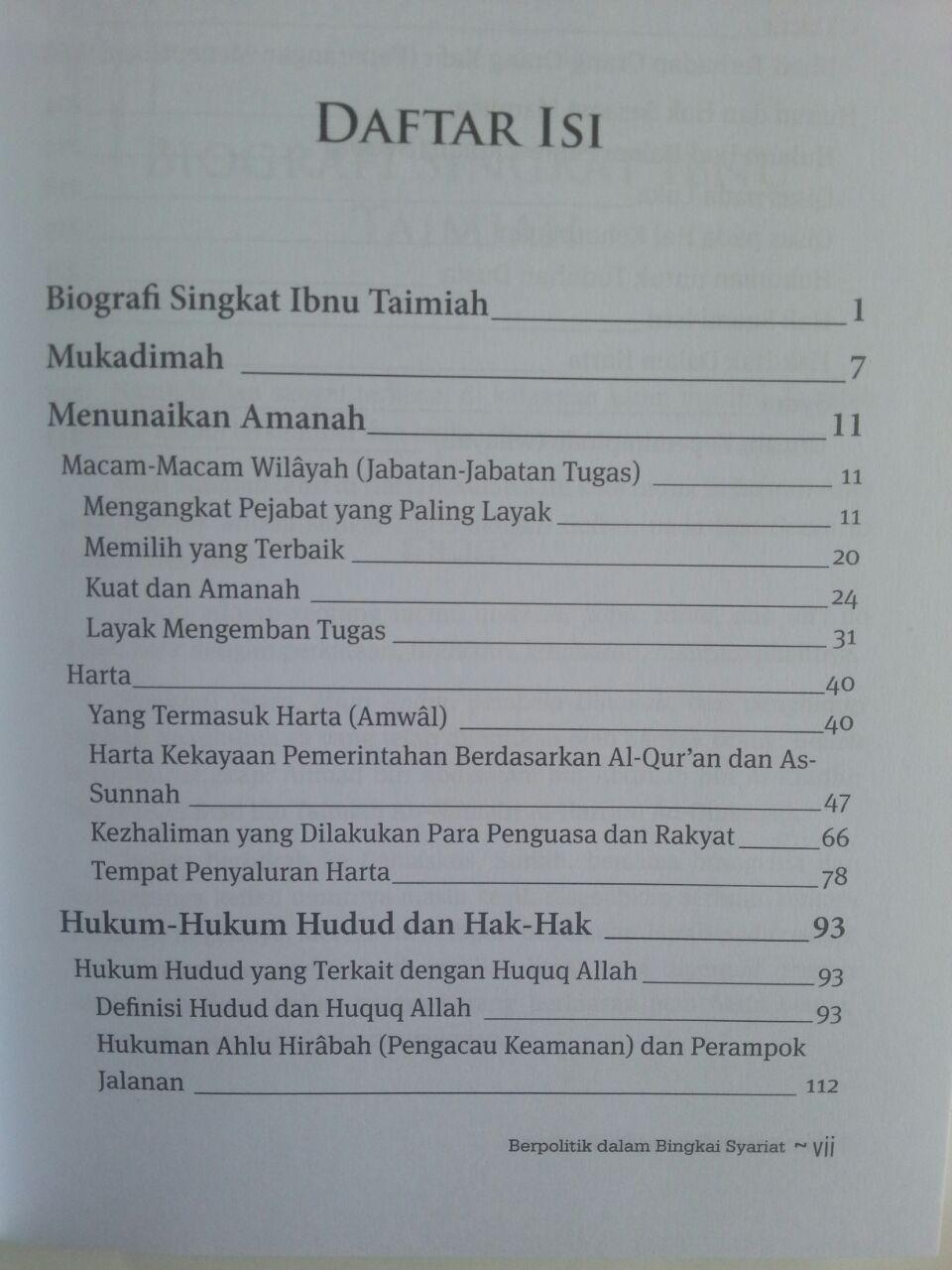 Buku Berpolitik Dalam Bingkai Syariat isi 2