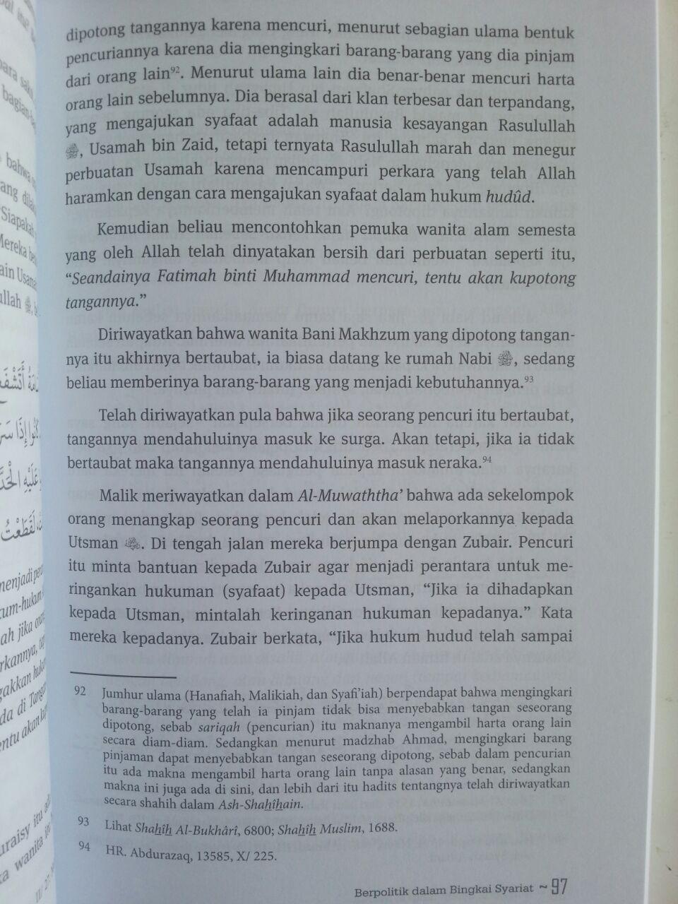 Buku Berpolitik Dalam Bingkai Syariat isi 3