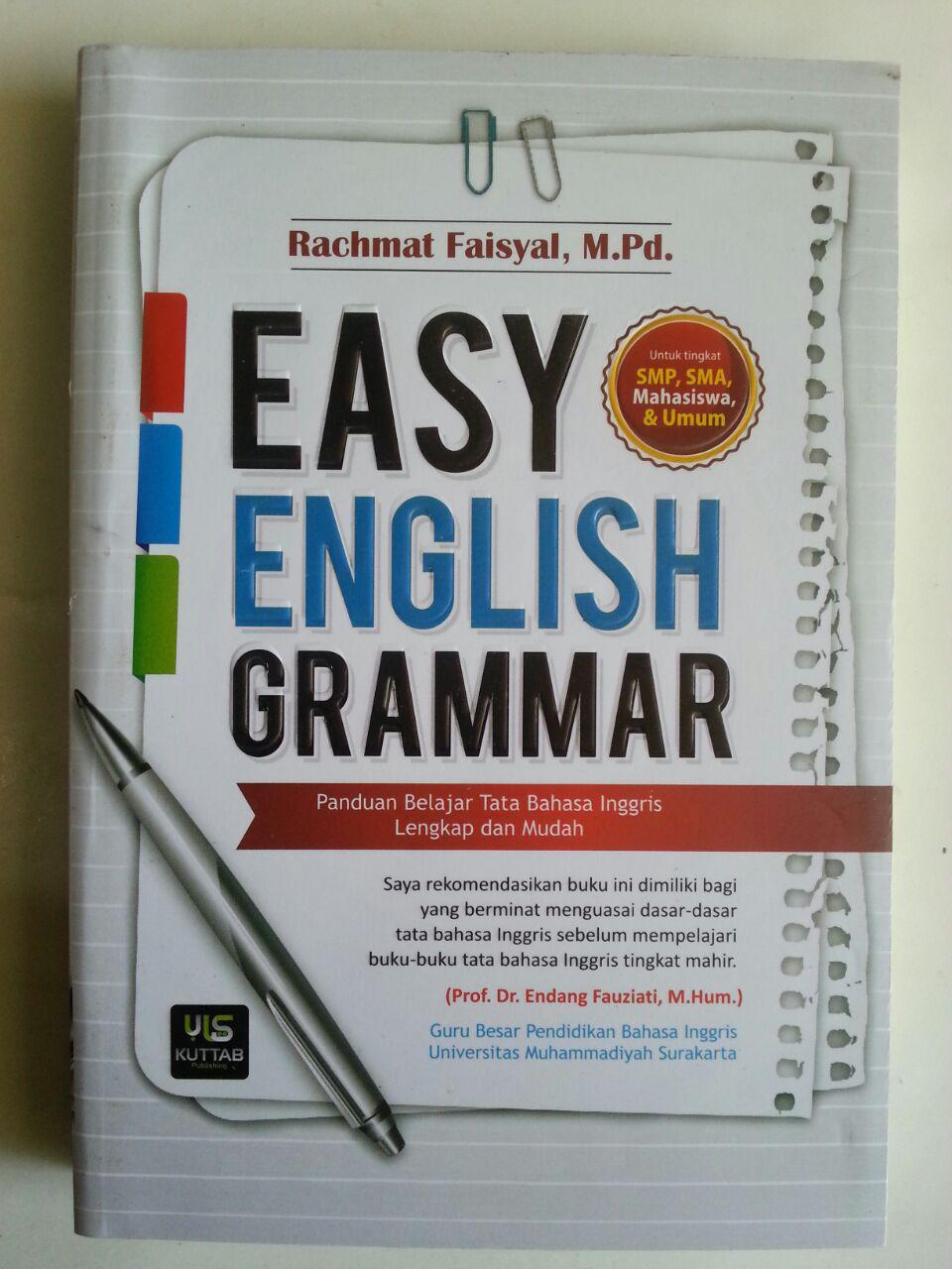 Buku Easy English Grammar Panduan Belajar Tata Bahasa Inggris cover 2