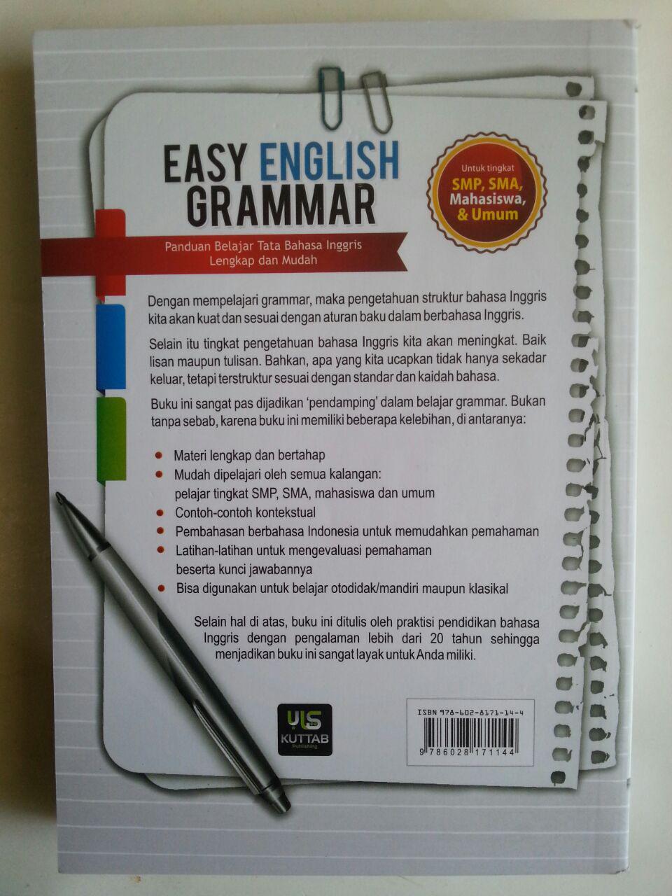 Buku Easy English Grammar Panduan Belajar Tata Bahasa Inggris cover