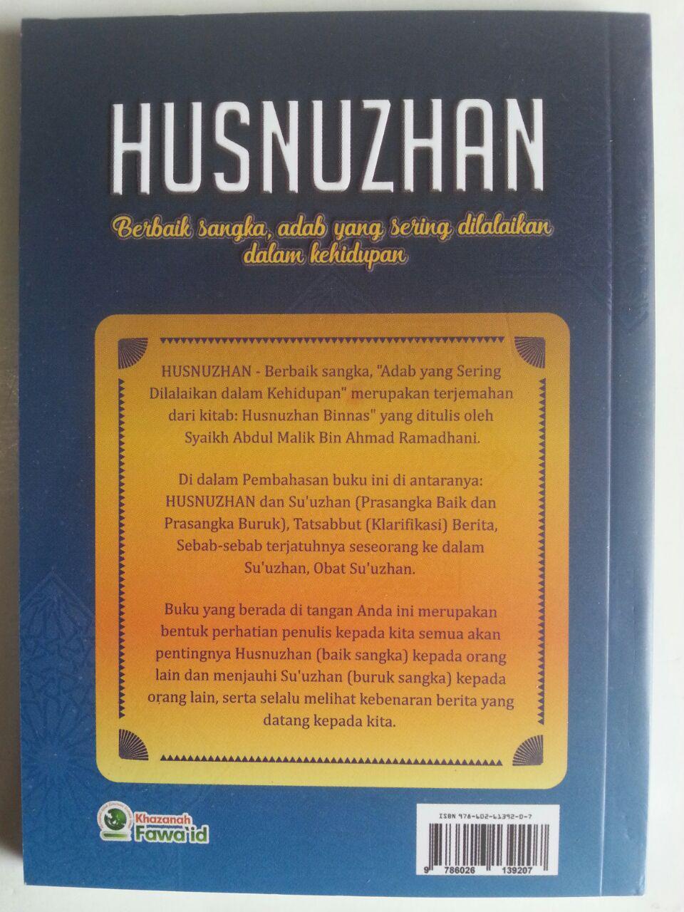 Buku Husnuzhan Berbaik Sangka Adab Yang Sering Dilalaikan cover