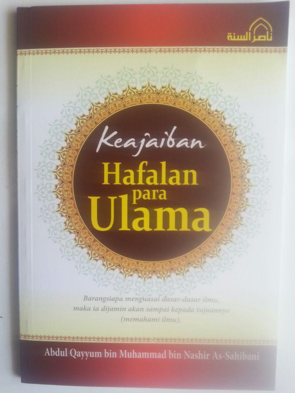 Buku Keajaiban Hafalan Para Ulama cover 2