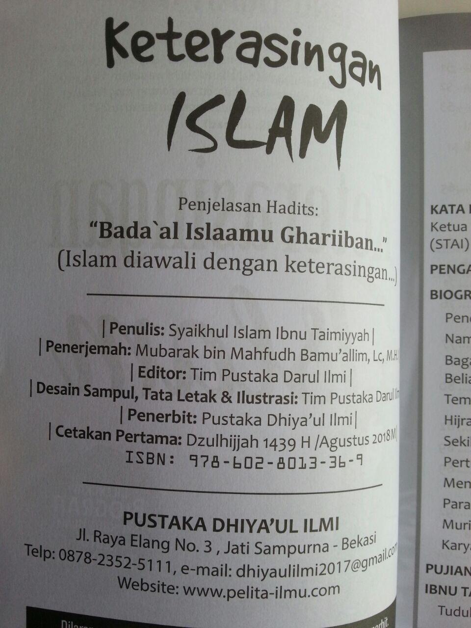 Buku Keterasingan Islam Dilengkapi Biografi Ibnu Taimiyyah isi
