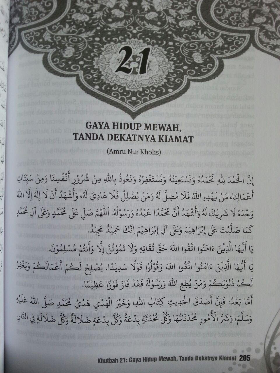 Buku Khutbah Jum'at Akhir Zaman 52 Pesan Wasiat Nasihat Menggugah isi 3