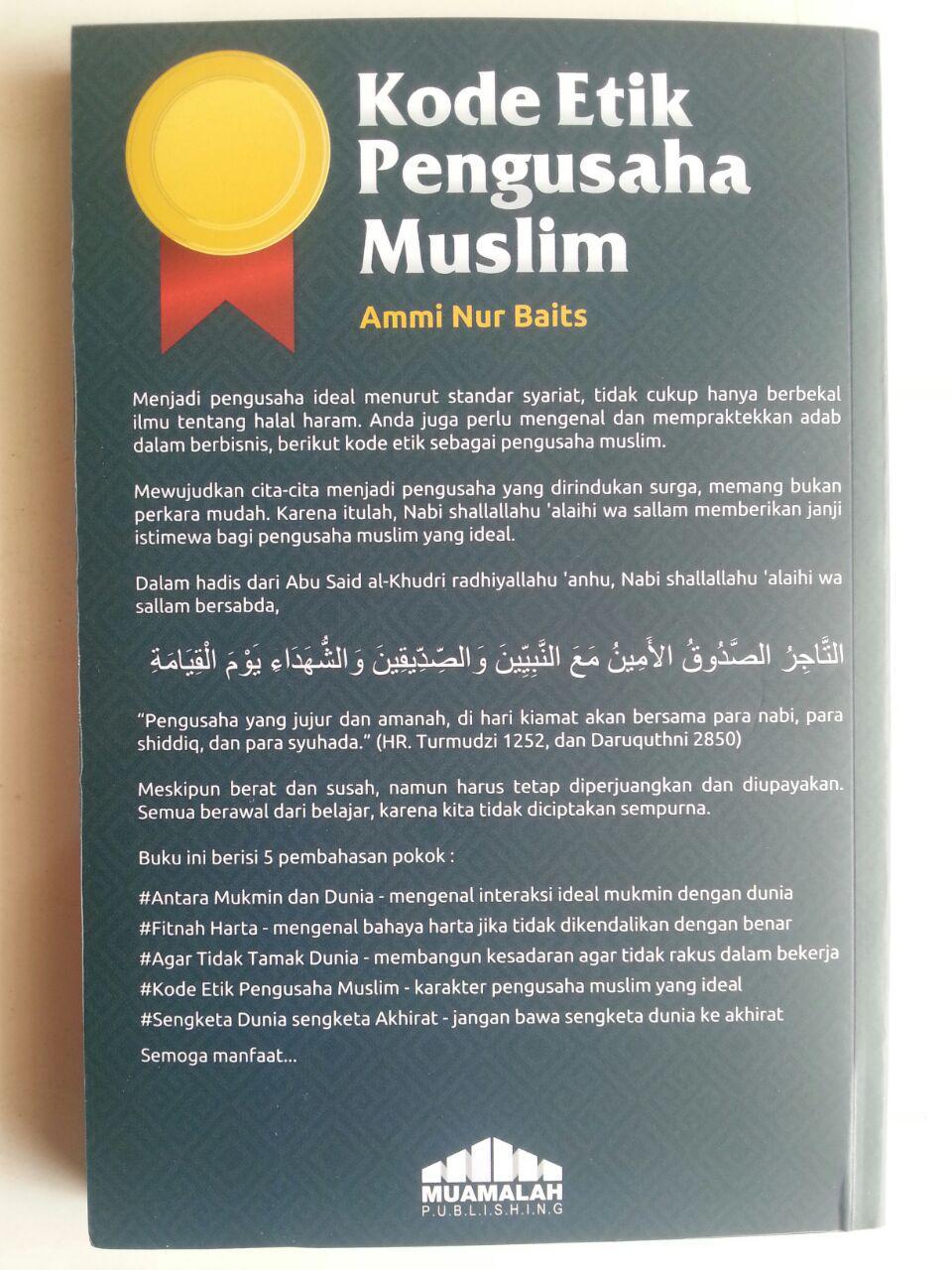 Buku Kode Etik Pengusaha Muslim Menjadi Pengusaha Ideal Standar Syariat cover