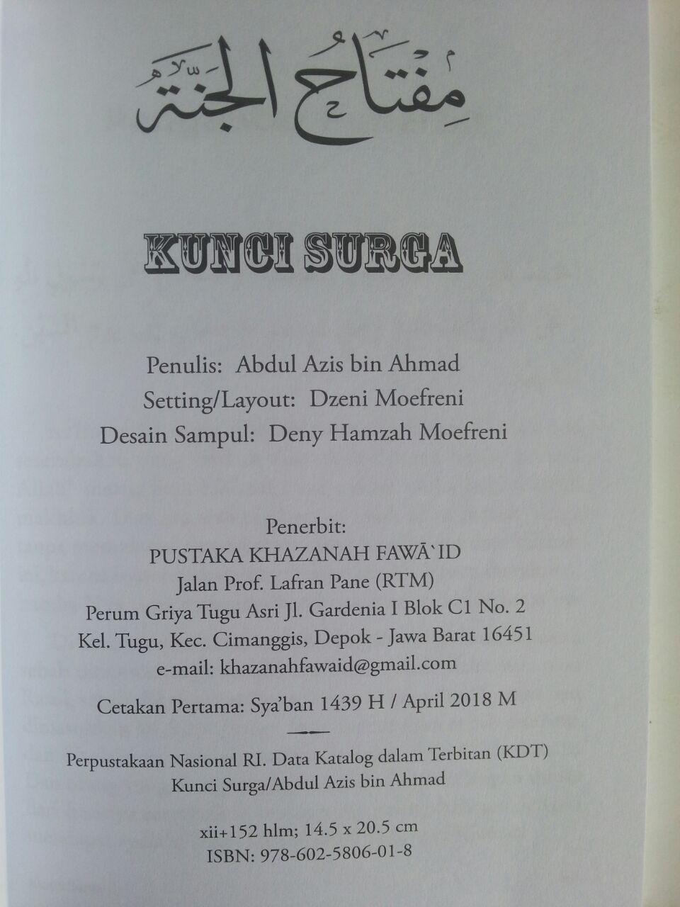 Buku Kunci Surga Laa Ilaaha Illallaah isi 2