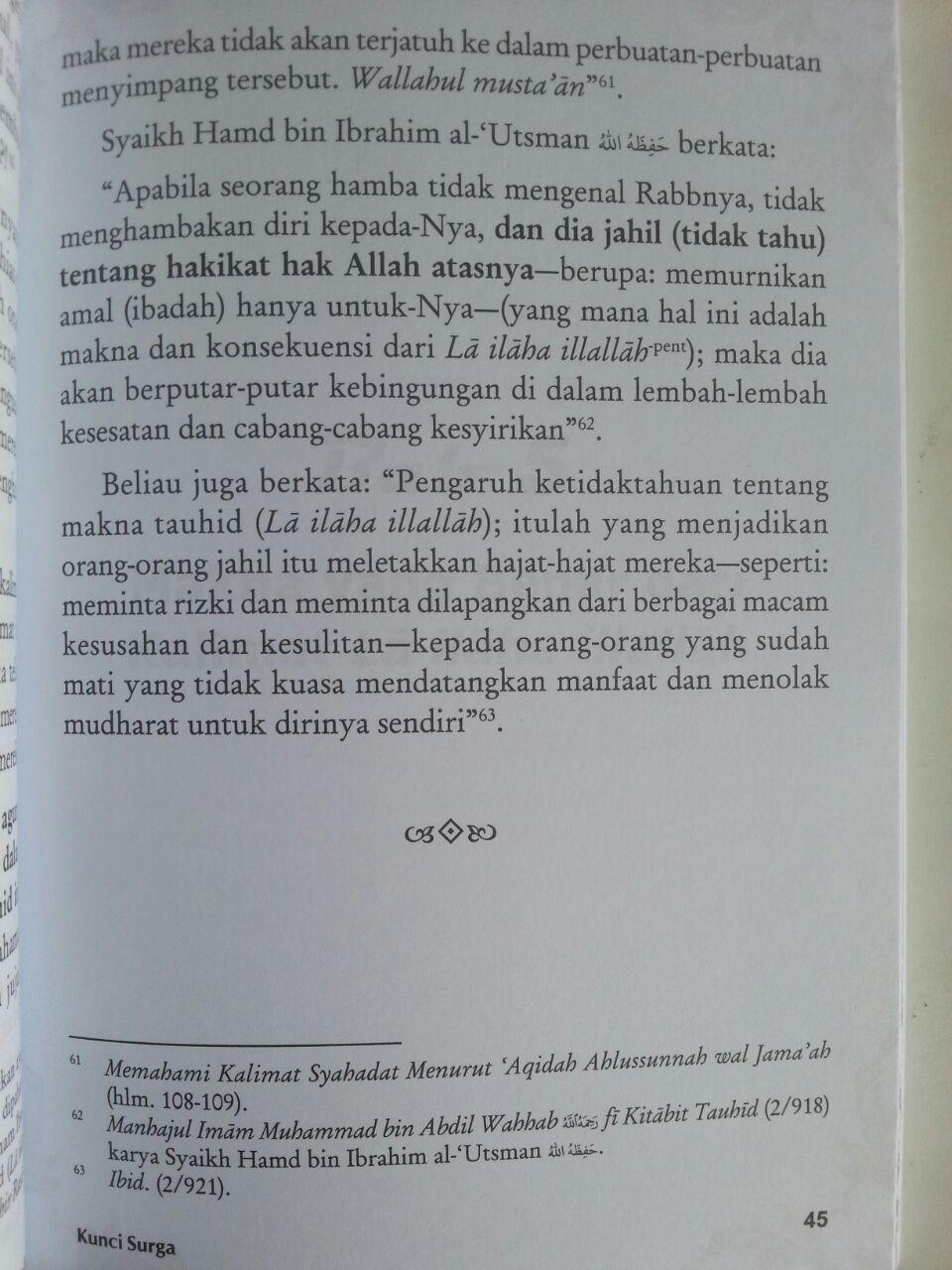 Buku Kunci Surga Laa Ilaaha Illallaah isi 3