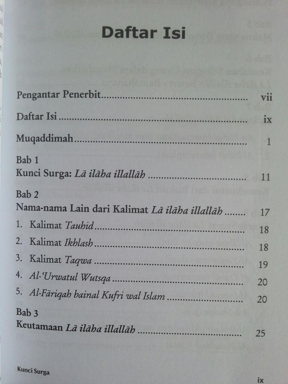 Buku Kunci Surga Laa Ilaaha Illallaah isi