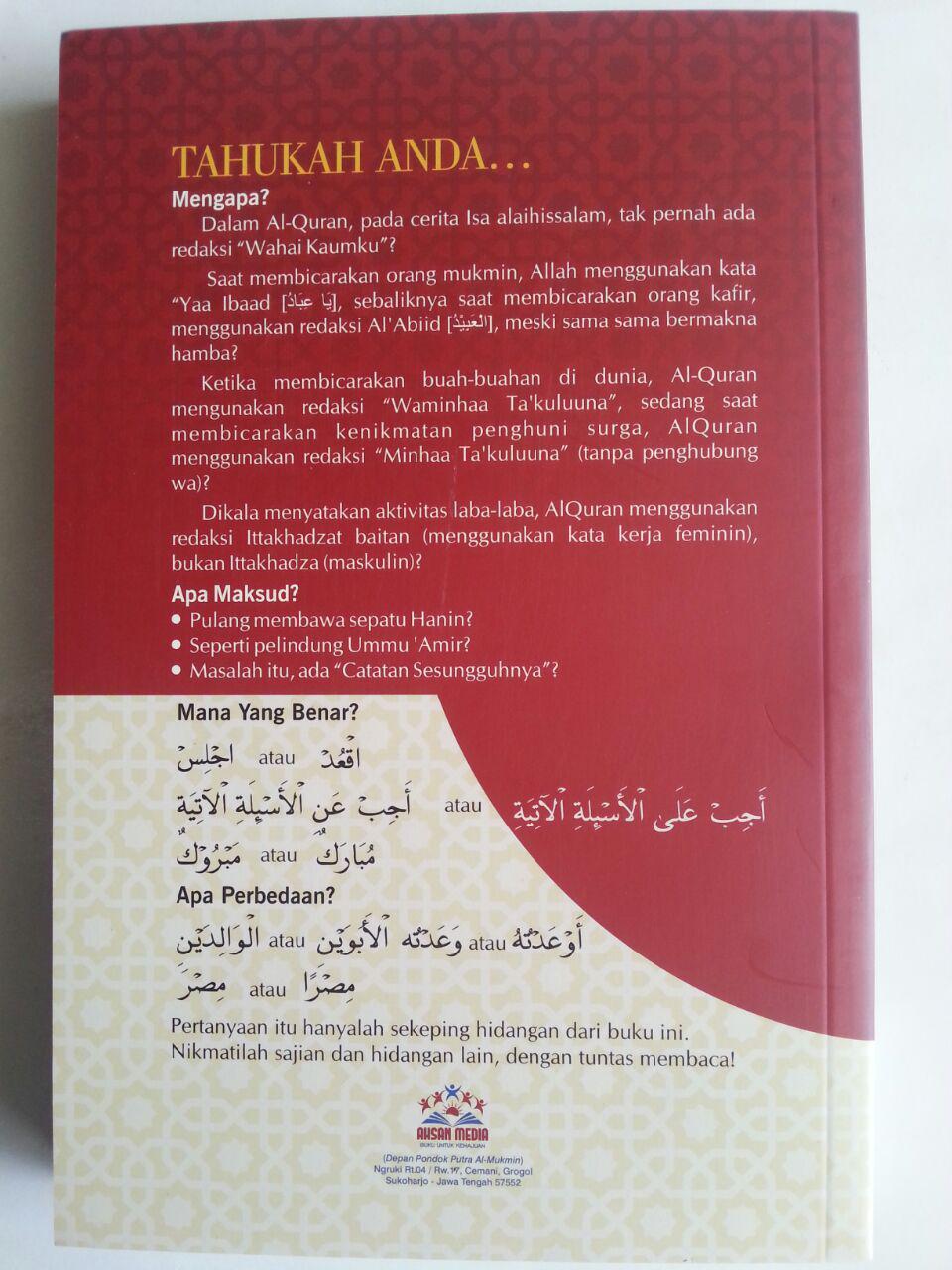 Buku Lathaif Al-Qur'an Wal Arabiyyah Buku Pintar Qur'an Bahasa Arab cover
