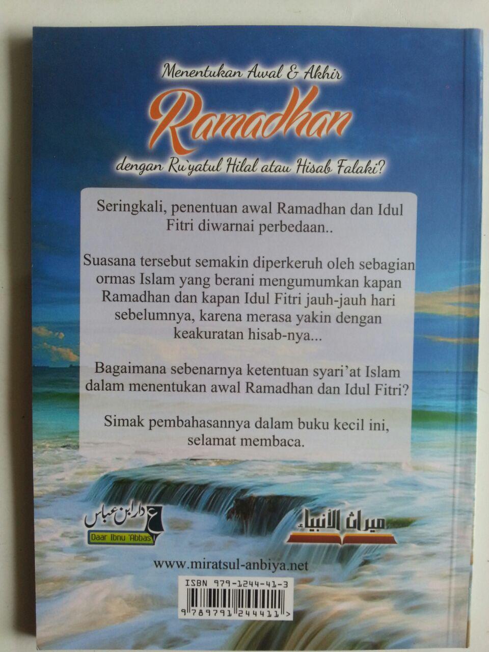 Buku Menentukan Awal Dan Akhir Ramadhan Dengan Ru'yatul Atau Hisab cover