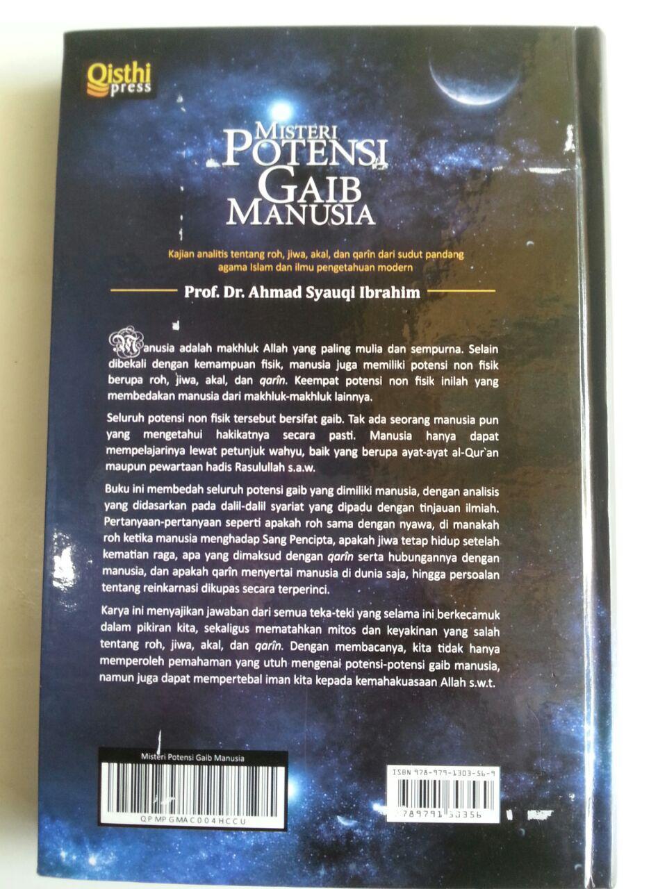 Buku Misteri Potensi Gaib Manusia Kajian Analitis Roh Jiwa Akal cover