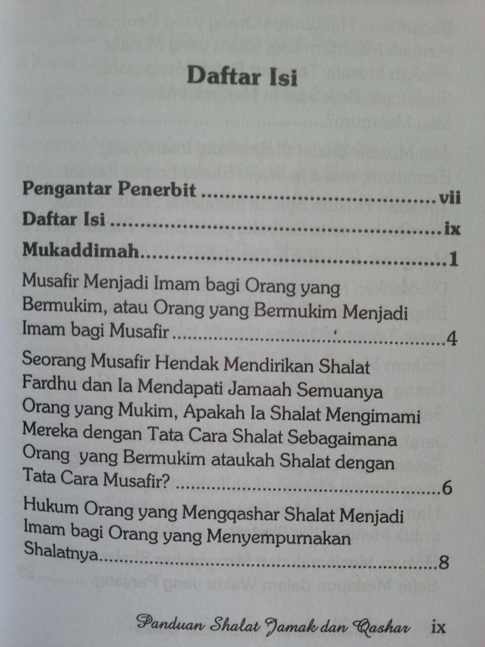 Buku Panduan Shalat Jamak Dan Qashar isi