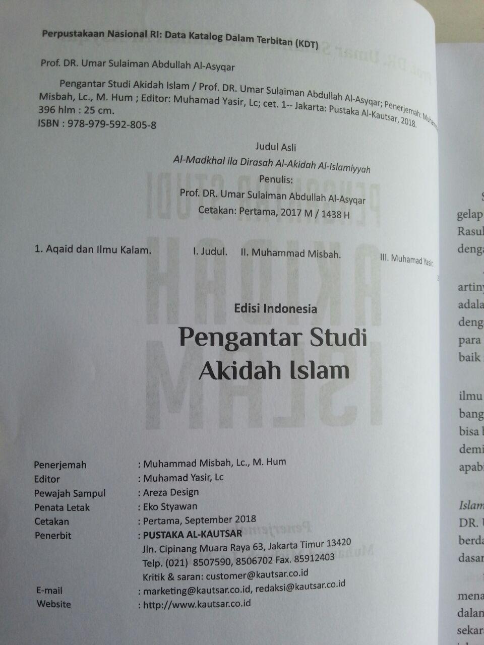 Buku Pengantar Studi Akidah Islam isi