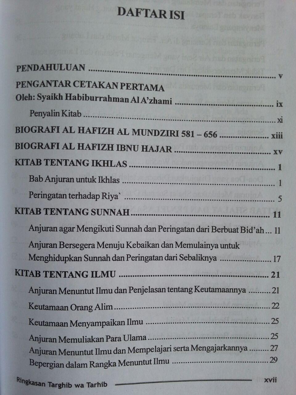 Buku Ringkasan Targhib Wa Tarhib isi 3