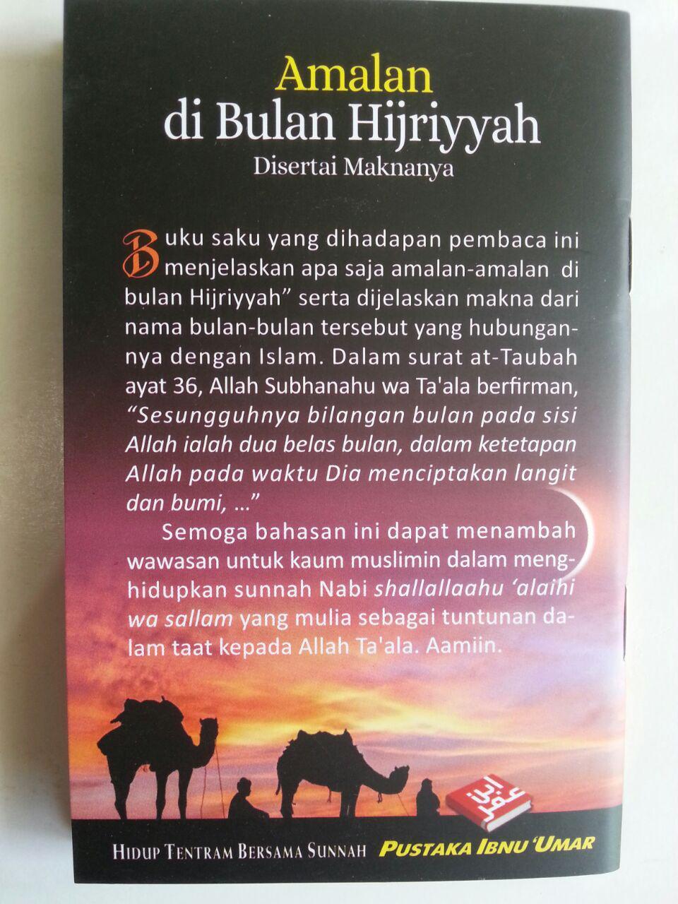 Buku Saku Amalan Di Bulan Hijriyyah Disertai Maknanya cover