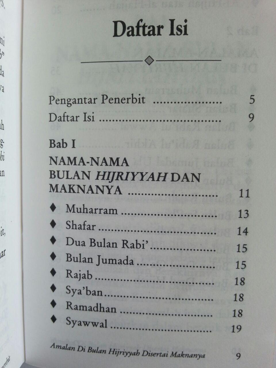 Buku Saku Amalan Di Bulan Hijriyyah Disertai Maknanya isi 2