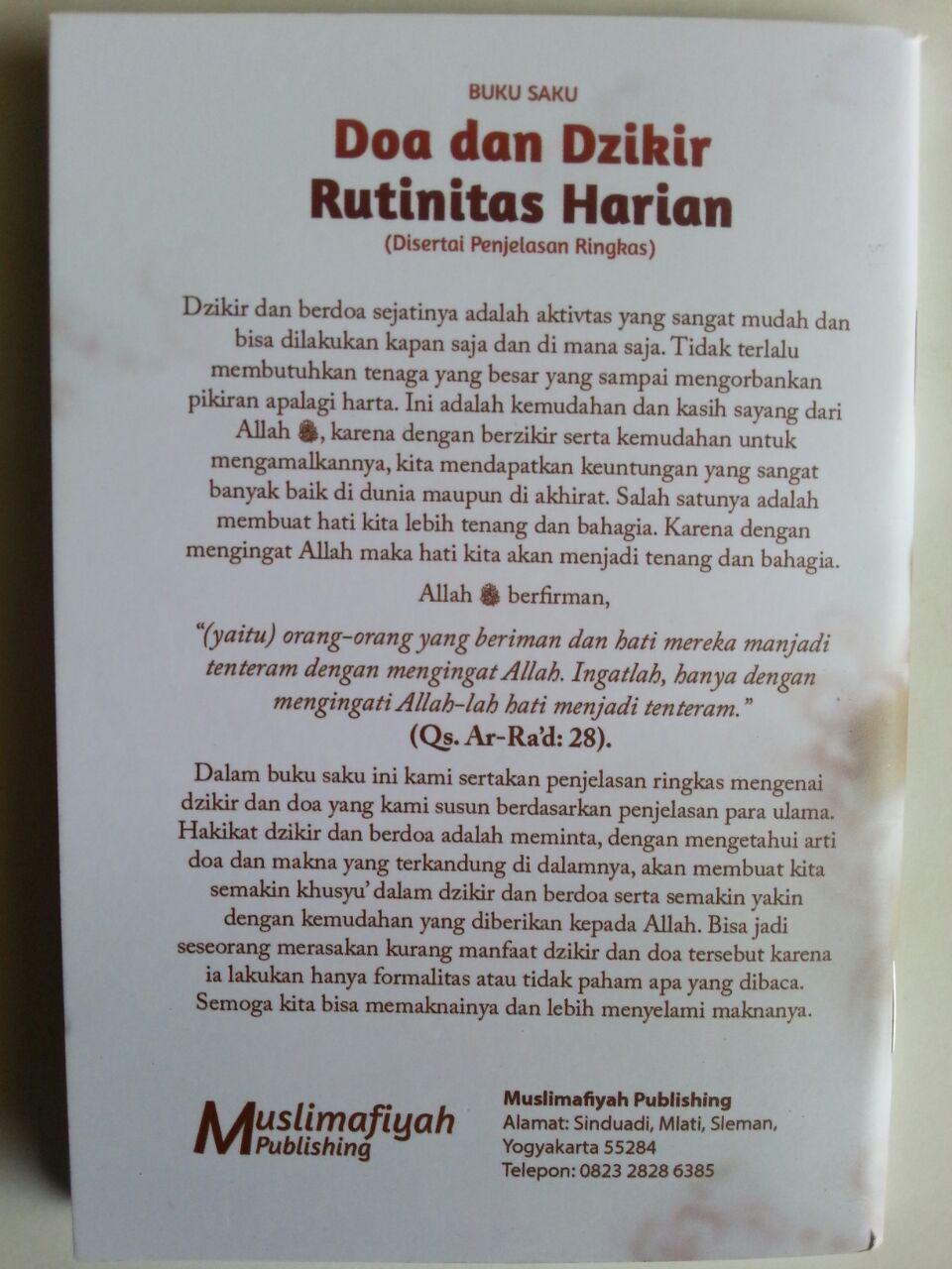 Buku Saku Doa Dan Dzikir Rutinitas Harian Disertai Penjelasan Ringkas cover