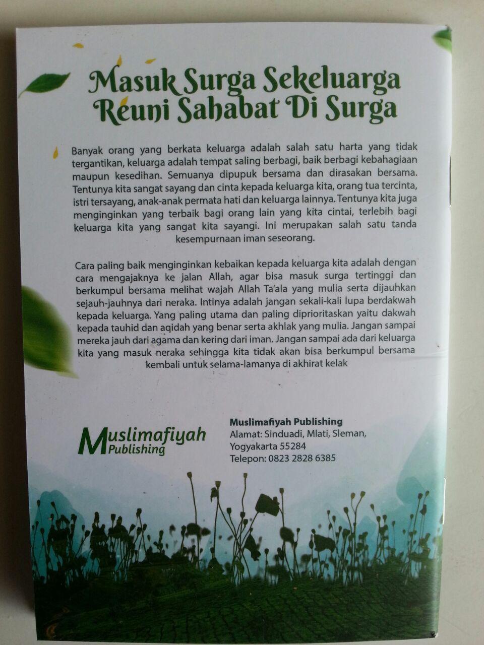 Buku Saku Masuk Surga Sekeluarga Reuni Sahabat Di Surga cover