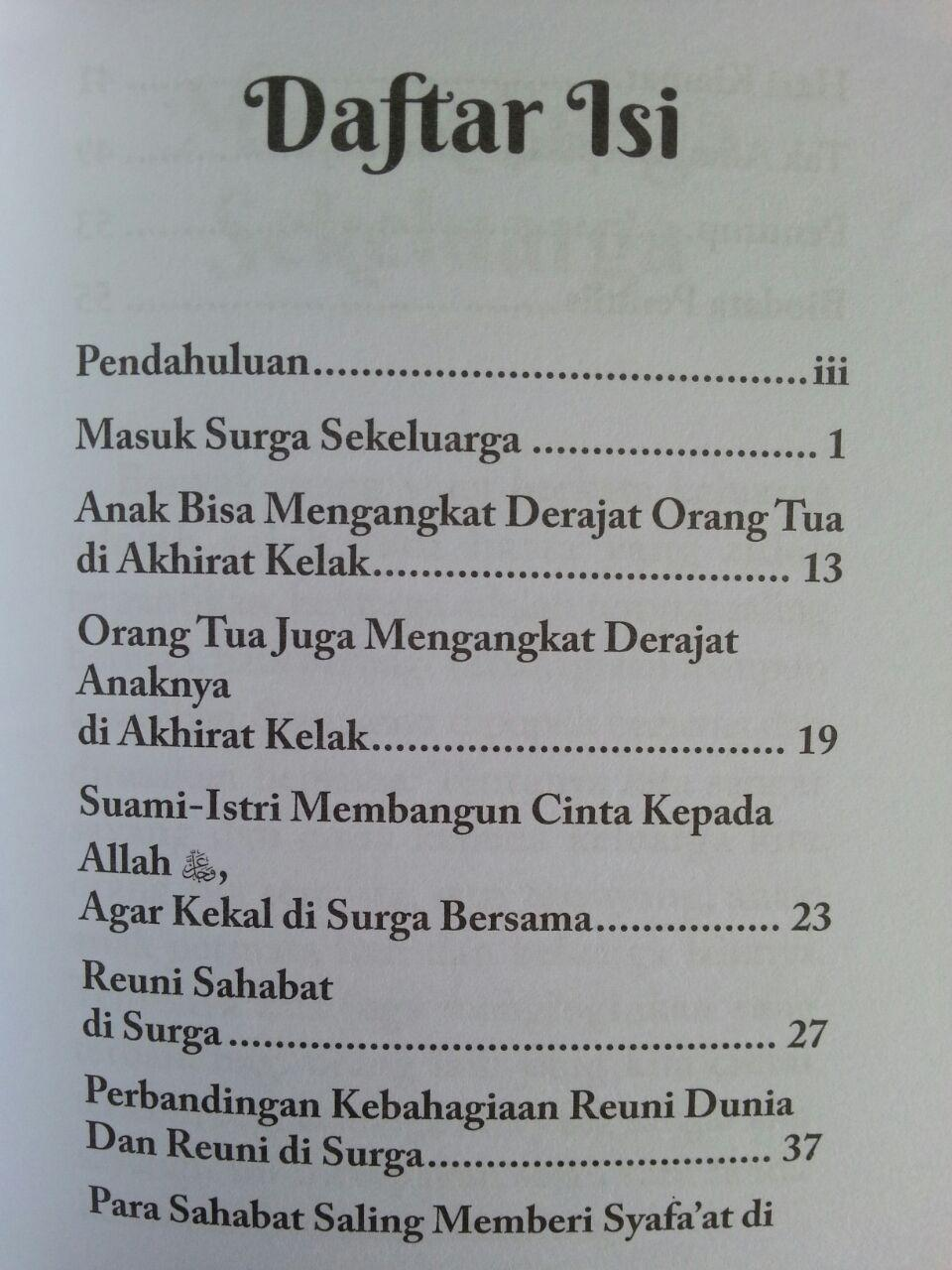 Buku Saku Masuk Surga Sekeluarga Reuni Sahabat Di Surga isi 2