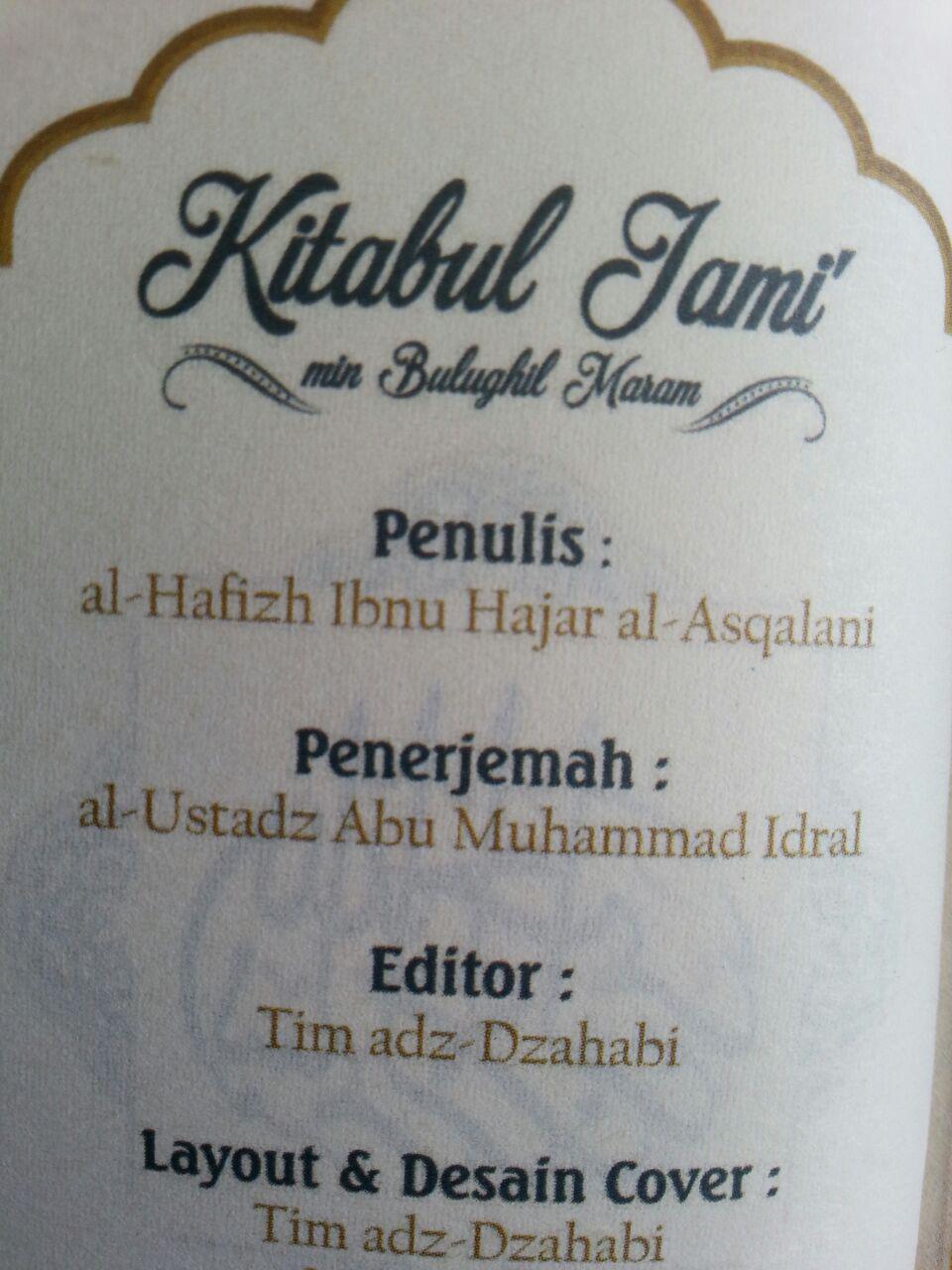 Buku Saku Terjemah Kitabul Jami Dari Bulughul Maram isi