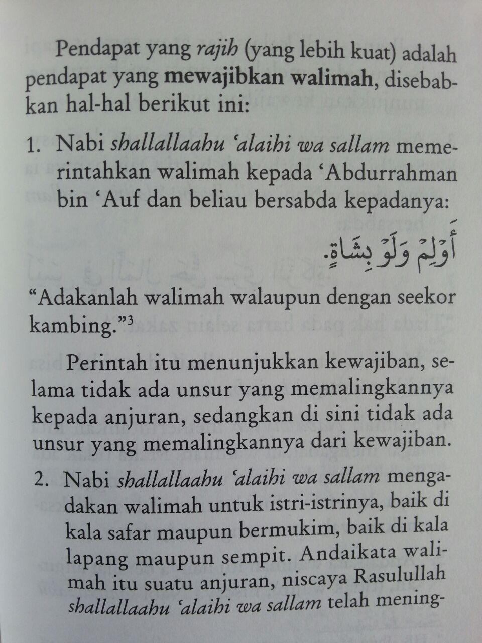 Buku Saku Tuntunan Praktis Adab Walimah Menurut Qur'an Dan Sunnah isi 3