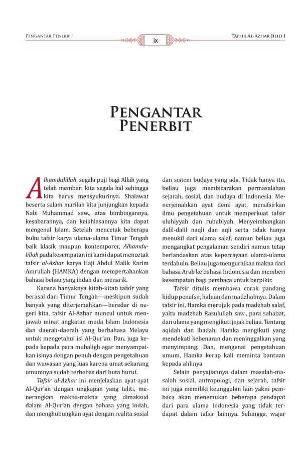 Buku Tafsir Al-Azhar Hamka 1 Set 9 Jilid isi 3