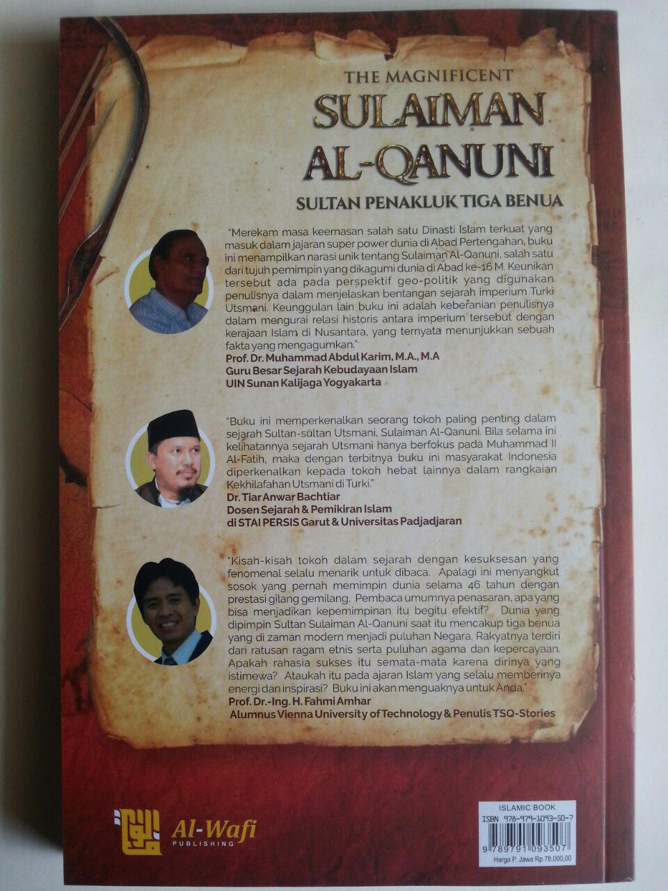 Buku The Magnificent Sulaiman Al-Qanuni Sultan Penakluk Tiga Benua cover
