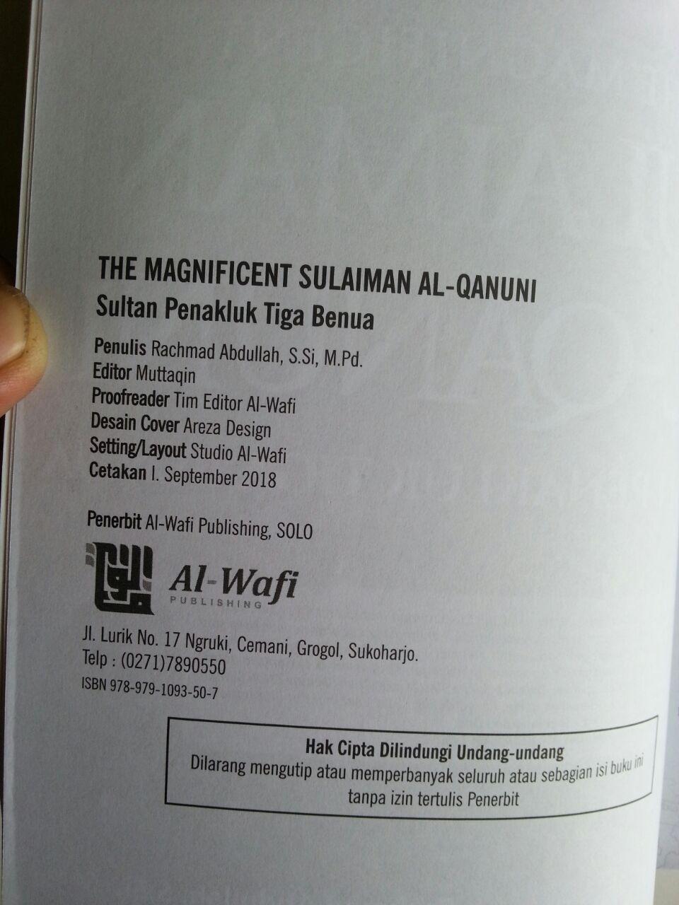 Buku The Magnificent Sulaiman Al-Qanuni Sultan Penakluk Tiga Benua isi 2