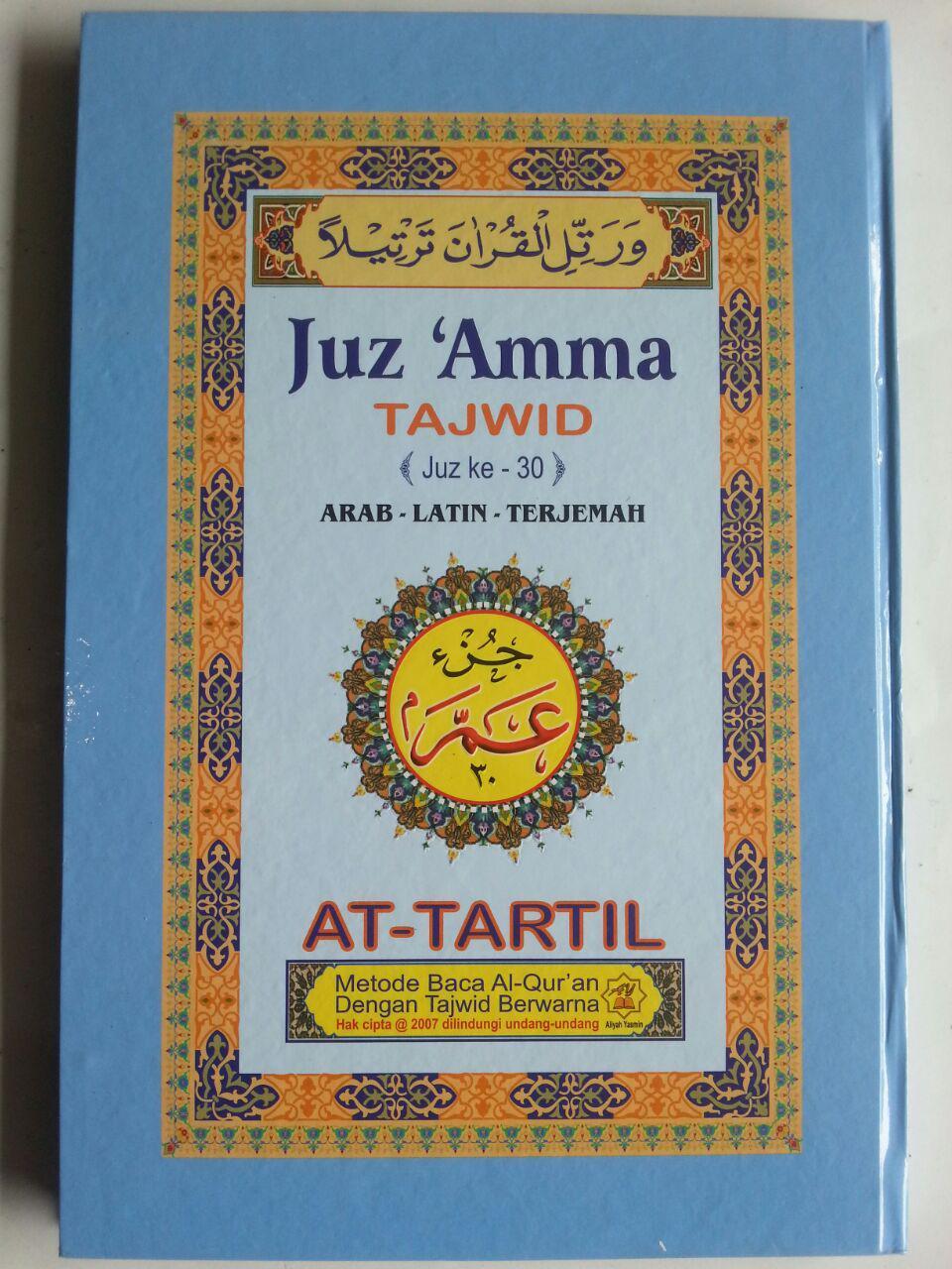 Al Quran Juz Amma Tajwid At Tartil Arab Latin Terjemah B5 Hc