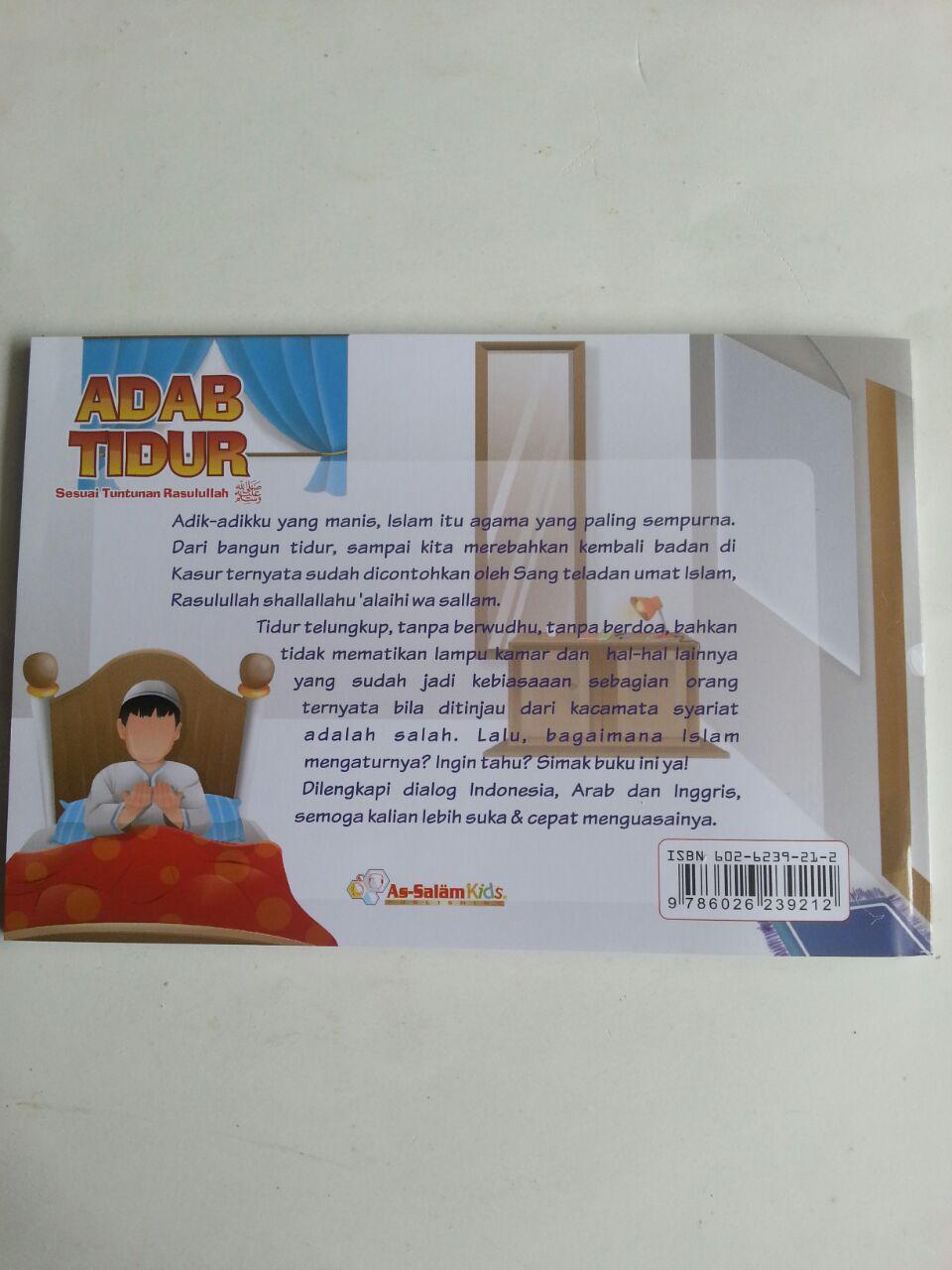 Buku Anak Adab Tidur Sesuai Tuntunan Rasulullah cover