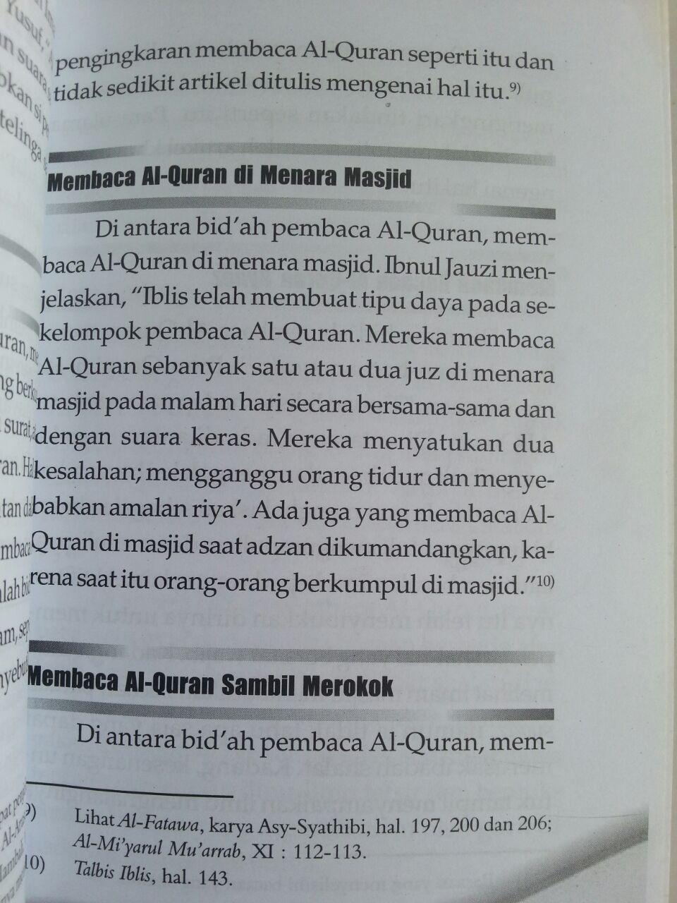 Buku Bidah Pembaca Al-Qur'an Koreksi Kesalahan Membaca Qur'an isi 3